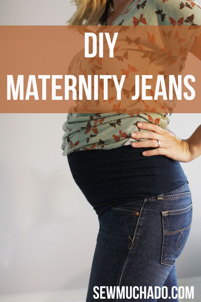 DIY Maternity Jeans - the BEST fitting maternity jeans you will own!