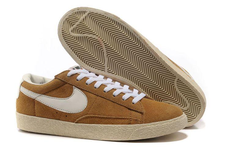 Blazer Nike Low Premium Vintage Suede Homme Kaki