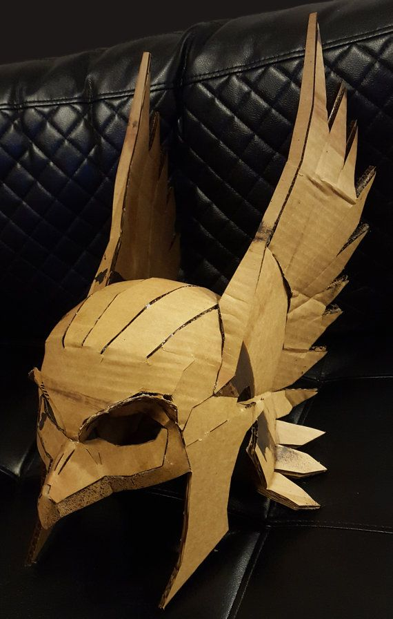 Hawkman Mask DIY Cardboard Helmet Kit Thor Bird Man by Calabozoida