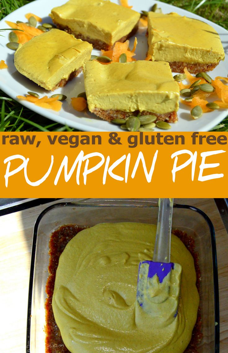 This is a raw vegan pumpkin pie / cake recipe that is easy to make. Suitable for vegan, dairy free, gluten free and healthy diets. via @nestandglow