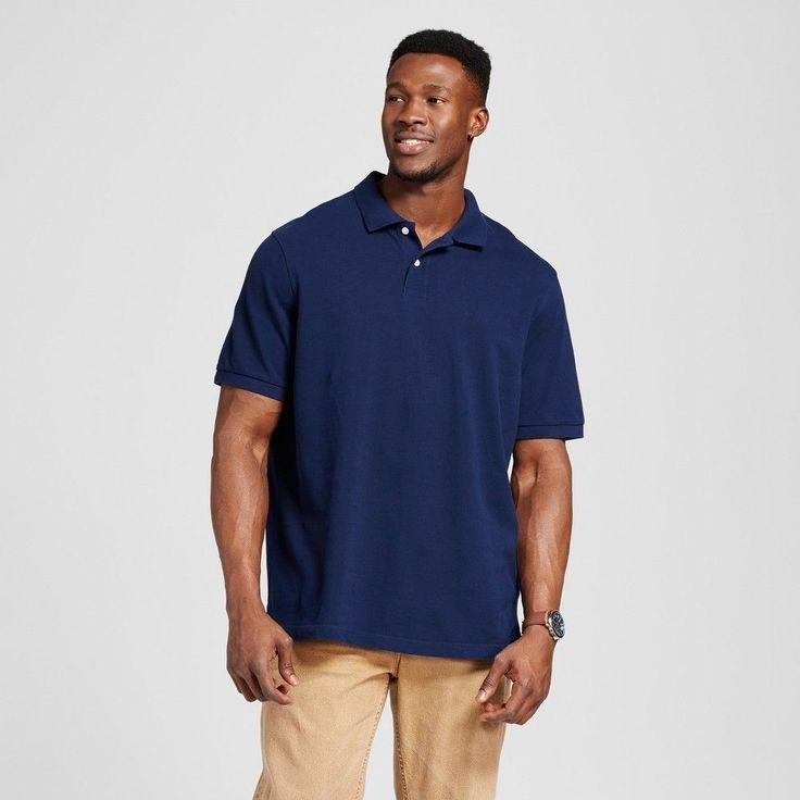 Men's Big & Tall Polo Navy (Blue) 4XB Tall - Merona