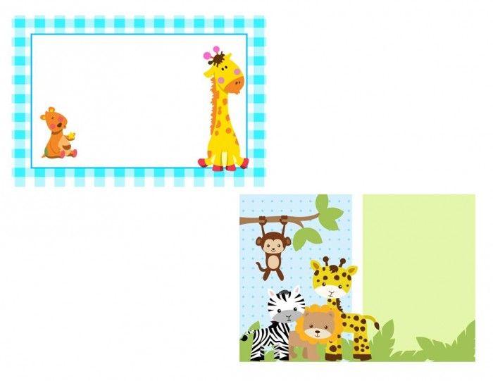 INVITACIONES BABY SHOWER ANIMALITOS Y ANGELES , INVITACIONES SHARE