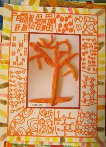 """A la manière des peintres/sculpteurs - Arbre à la… - Angela Vandenbogaard - Arbrechinsky - """"Au bouleau"""" Klimt!! - ARBRES en ART - Poésie en fil de… - Les petits bout 2 fee"""