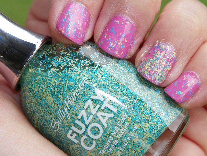 Small Budget Beauty: Sally Hansen Fuzzy Coat Nail Tutorial #IHeartMyNailArt