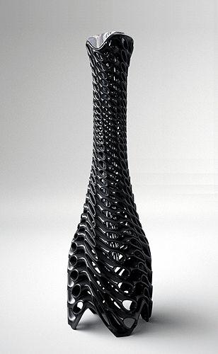 Modern styled vase, perhaps for bamboo sticks.