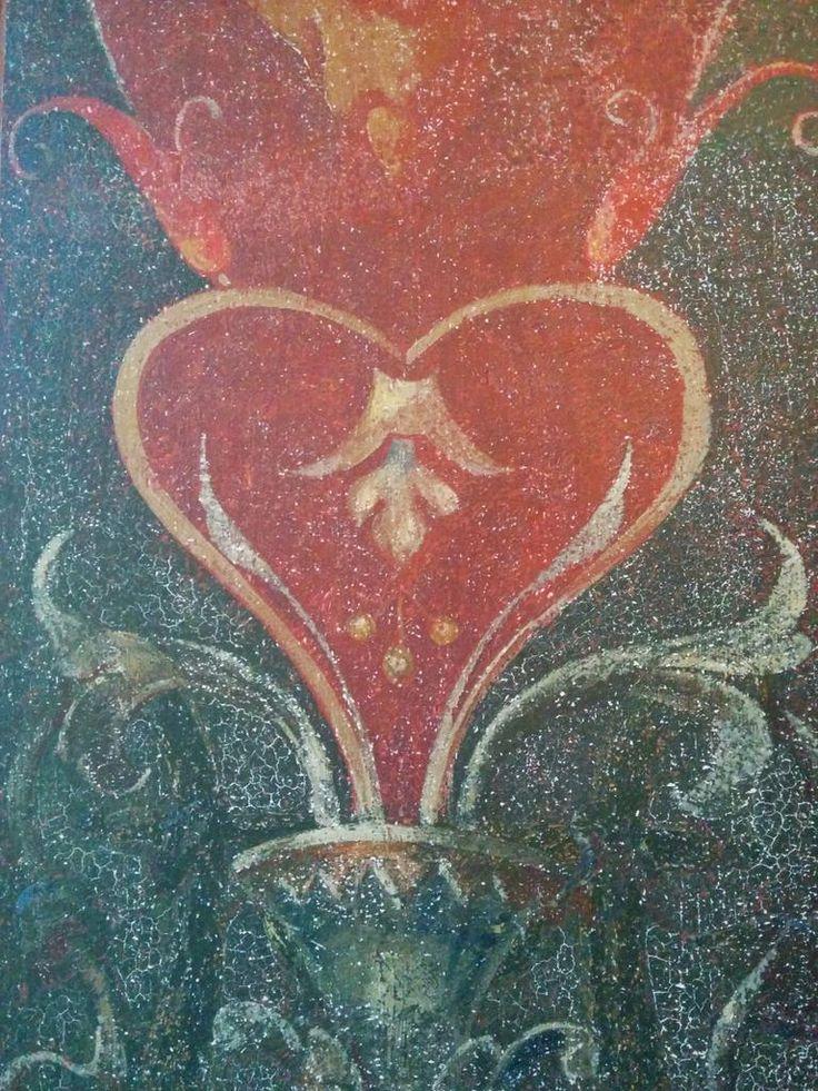 Detail van de muurschilderingen in de balzaal van Paushuize