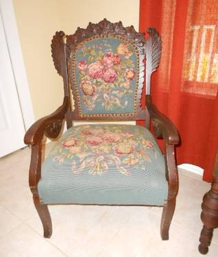 Lovely Victorian Needlepoint Chair