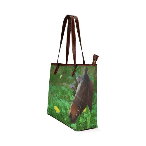 Horse and Grass Shoulder Tote Bag. FREE Shipping. #artsadd #bags #horses