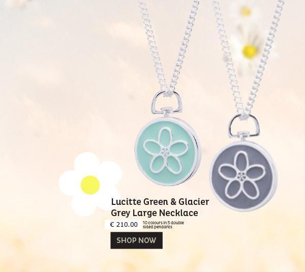 @fabuleuxvous  Daisy Lucitte Green & Glacier Grey lange ketting (DLGGG-LN) Prachtig vormgegeven, met de hand afgewerkt zilver met gestileerde daisy motief gekleurd in prachtig kleur groen aan de ene zijde en grijs aan de andere zijde, inclusief een lang collier.  Ook beschikbaar: Oorbellen   Korte colliers/kettingen   Ring  http://conta.cc/1ZMLKZ1