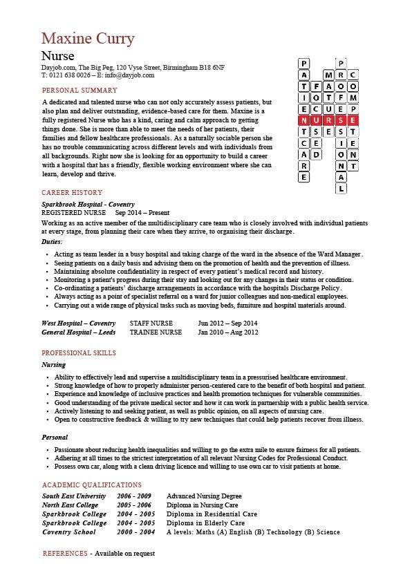 Resume Examples For Nursing Assistant - Resume Sample