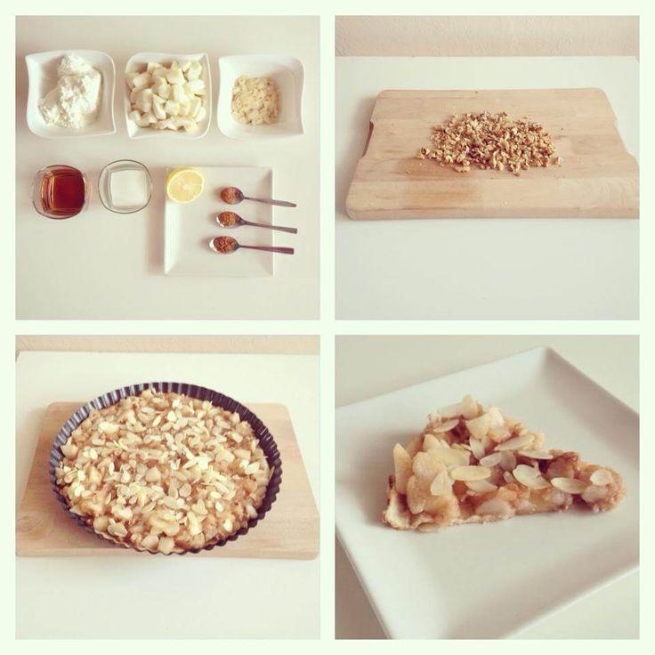 Jablkovo - tvarohový koláč - Fitness Recepty