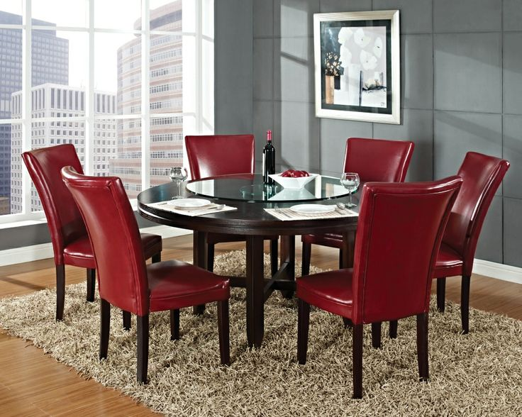 Hartford Red Dining Collection From Steve Silver Round Table