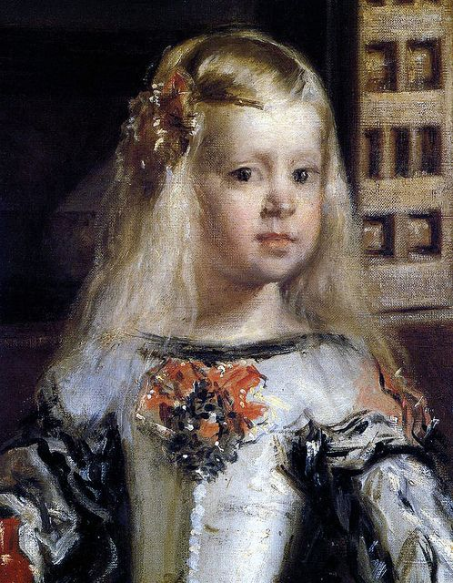 Diego Velázquez - Infanta Margarita   I love her! I used to stare at her for ours as a child...