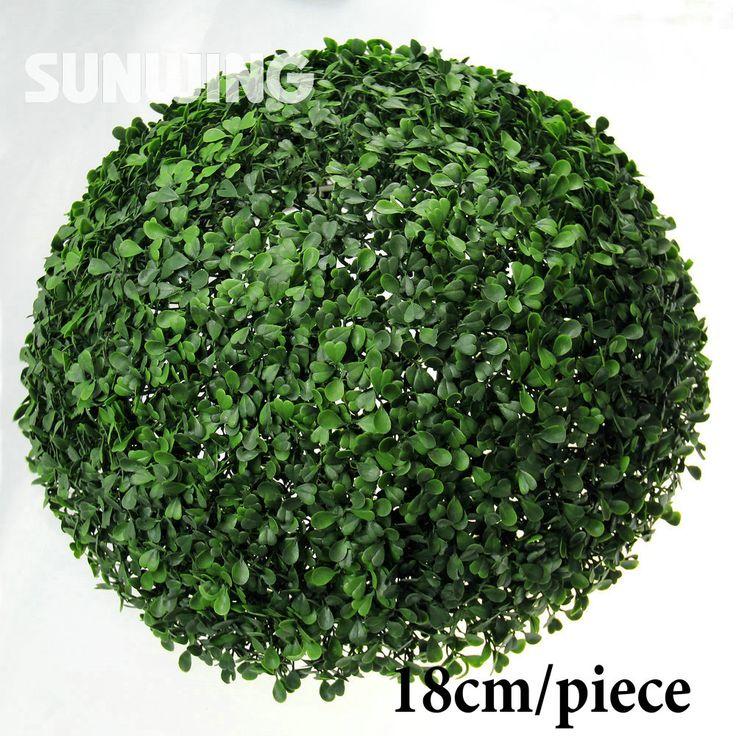 18cm Artificial Boxwood Ball Plastic Grass Ball Garden Ornaments Plastic Indoor Plants Wedding Chrismas Decoration