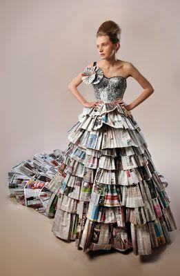 ECOMANIA BLOG: Moda con Papel de Periódico