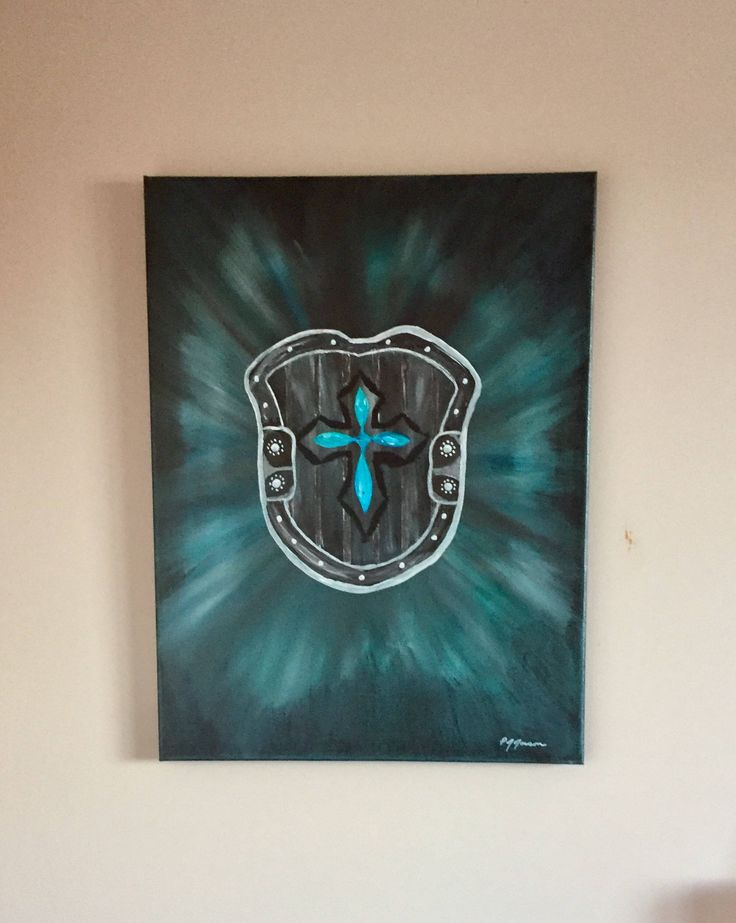 A personal favorite from my Etsy shop https://www.etsy.com/ca/listing/519189456/shield-of-faith