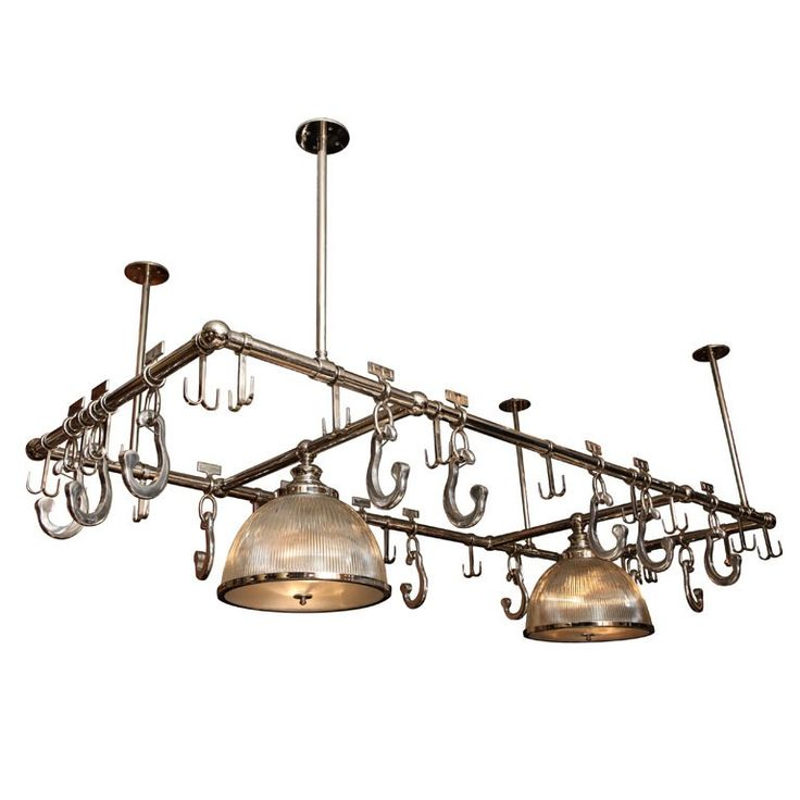Above kitchen island pot rack and lighting  sc 1 st  Pinterest & 41 best Pot Rack - New images on Pinterest | Pot racks Big ... azcodes.com