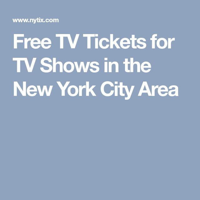 Free TV Tickets for TV Shows in the New York City Area