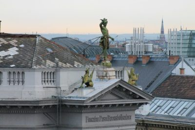 Roofs of Budapest - view from Aria Hotel Skybar