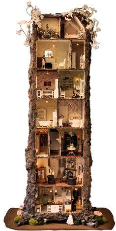 Tree Stump Fairy House Ideas | The Mini Mice: the apple tree