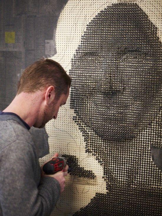 Arte con tornillos – Andrew Myers
