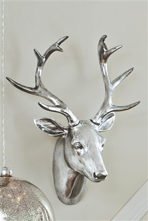 Buy Stag Head from the Next UK online shop £35  green wreath around the deer