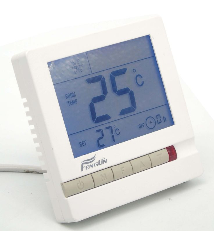 Delay Compressor protection LCD Digital Air Conditioner Hot and cold Thermostat for Fan Coil Unit