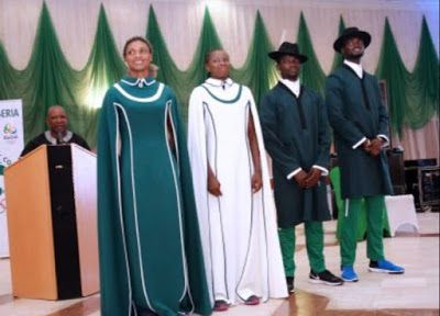 Nigerians react to outfit Team Nigeria should have worn at Rio 2016 Opening Ceremon   Above is the outfit that Team Nigeria was suppose to wear at the olympic games opening Ceremony but due to unknown difficulties they had to opt for tracksuits. See how Nigerians reacted to this after the cut  Naija News