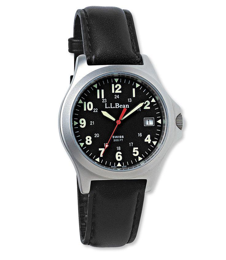 Men's Classic Field Watch, Stainless-Steel