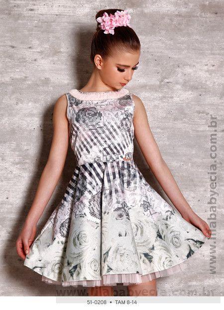 Vestido Infanto Juvenil Miss Cake Doce Princesa 510208