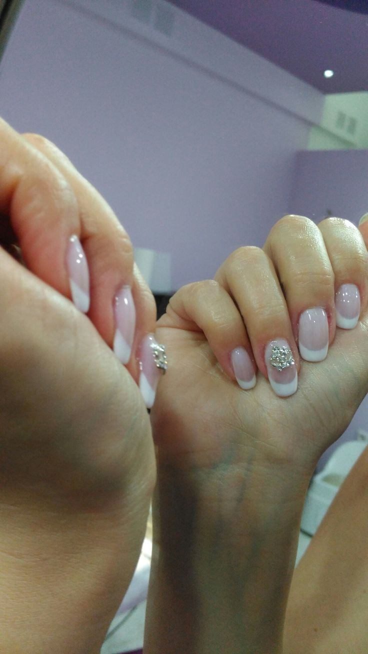 French nails for a little princess! Nails by Anna