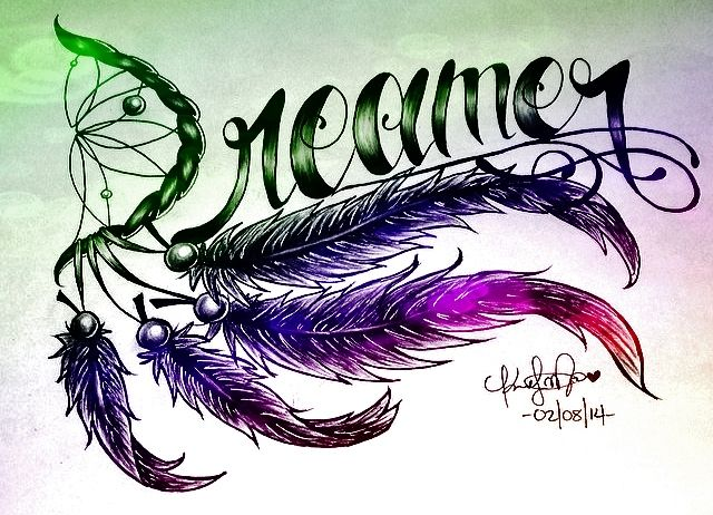 Dreamer Tattoo Feathers Design <3