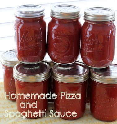 Can Your Own: Homemade Pizza and Spaghetti Sauce