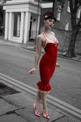 Nouvelle Two Tone Latex Corsage Dress By Breathless Fantastic Plastic Pinterest Corsage