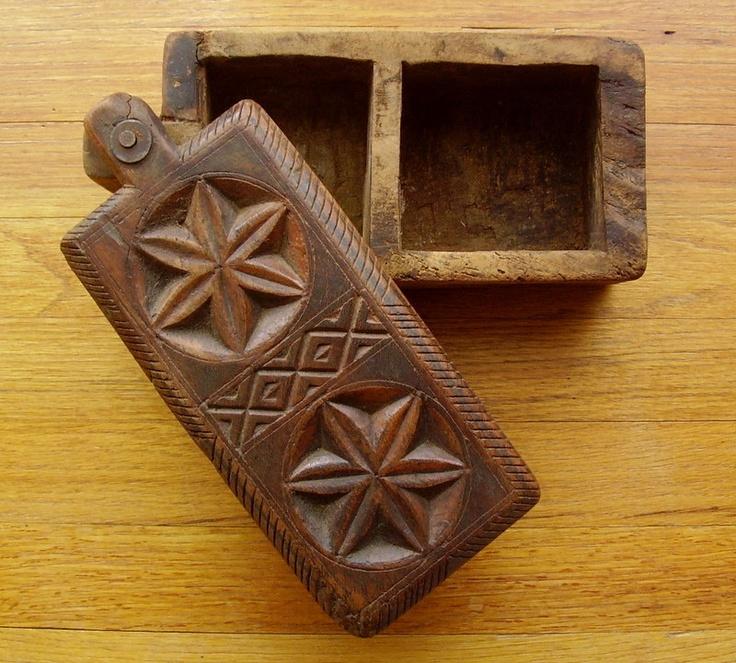 Early 1800 Antique Carved Wood Spice Box PA Dutch German RARE Folk Art Primtive | eBay sold 282.75