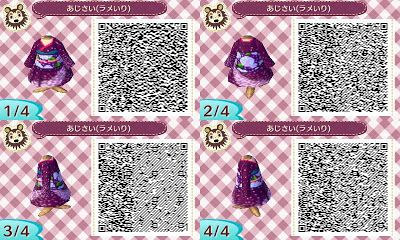 Animal Crossing New Leaf: Purple Kimono QR Code