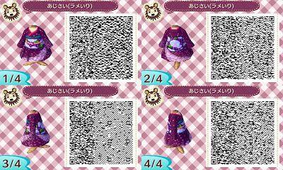 Animal Crossing: New Leaf: Purple Kimono QR Code