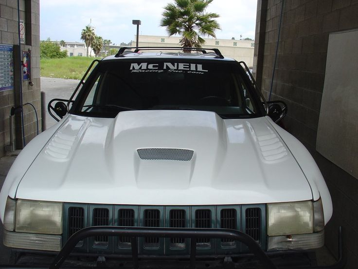 93-98 Jeep Grand Cherokee (ZJ) Off Road Fiberglass Hood - McNeil Racing Inc
