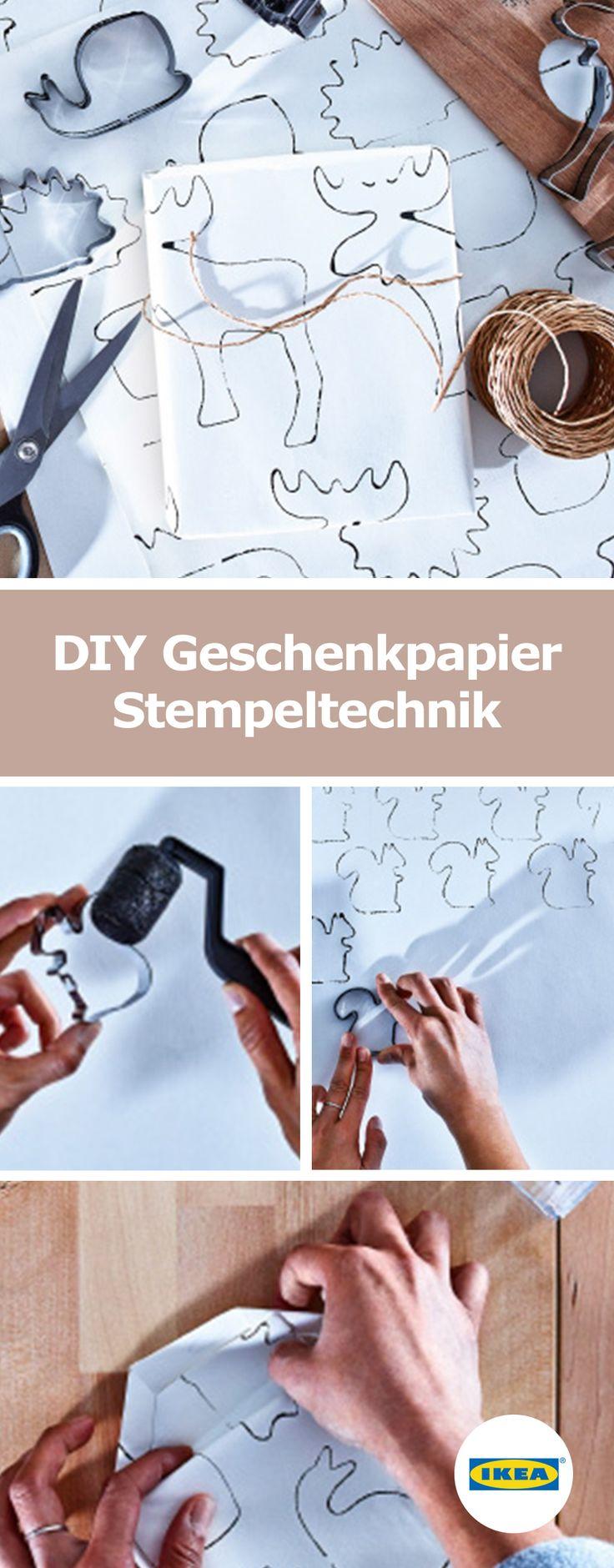 IKEA Deutschland | DIY Geschenkpapier Stempeltechnik