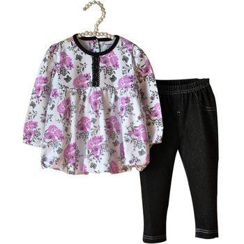 Age0-2 осень картеры цветочные девочка комплект одежды ребенка 2 шт. футболка + леггинсы новорожденный Roupa Infantil костюм детей и пиджаки