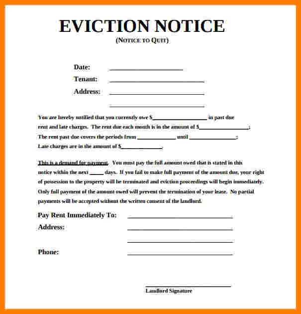 How To Write An Eviction Notice Eviction Notice 30 Day Eviction
