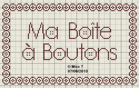 brodeuse - embroiderer - ma boite à boutons - point de croix - cross stitch - Blog : http://broderiemimie44.canalblog.com/