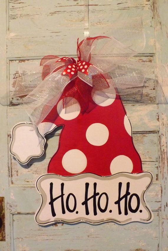 Christmas Door Hanger Christmas Door Decor by BluePickleDesigns, $45.00