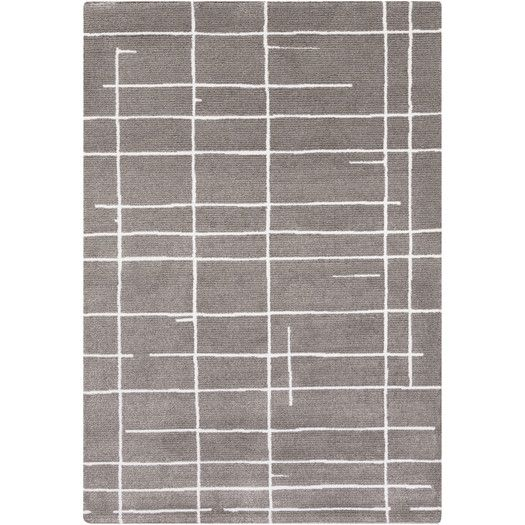 Found it at AllModern - Perla Ivory/Charcoal Area Rug