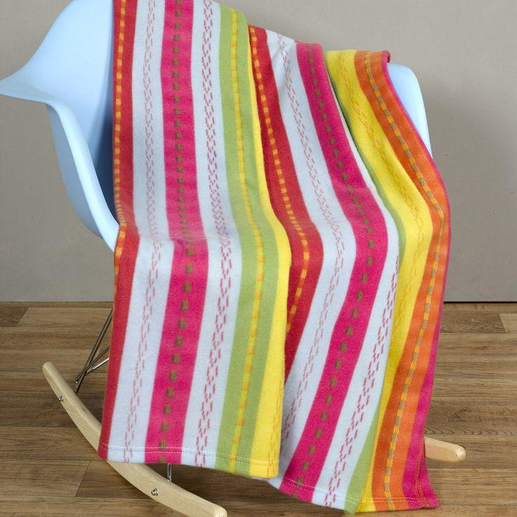 Buy Multi Stripe Printed Throw 127X152Cm | The Range