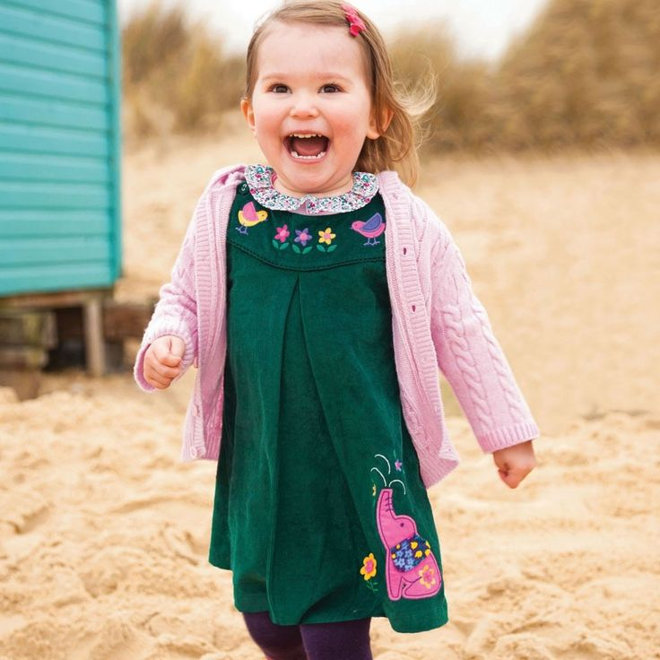 Earthy tones are beautiful all year round, especially in the colder months  - choose rich teal for an unusual addition to your child's wardrobe.