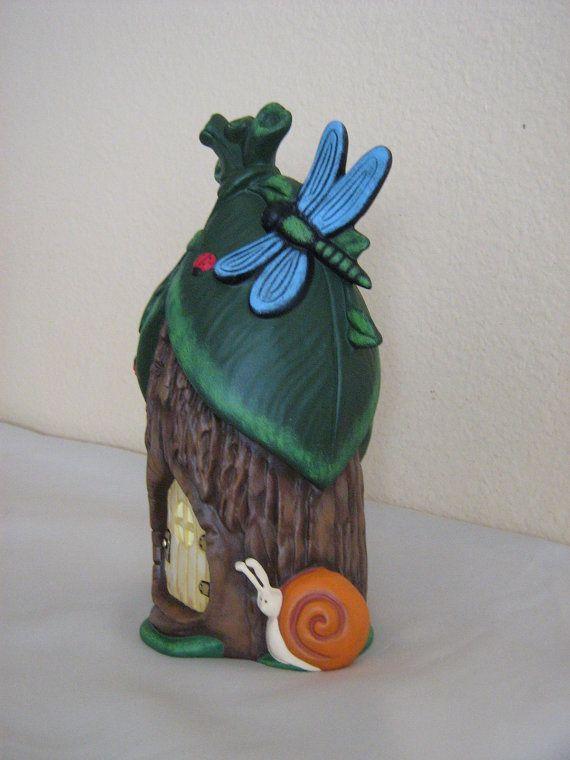 Casa de hadas de cerámica