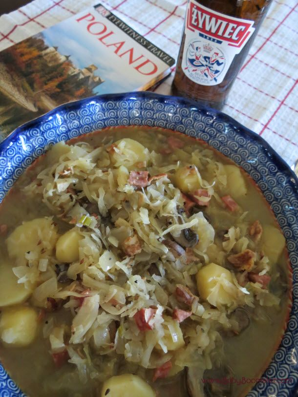 Inspired by my recent trip to Poland I made a traditional Polish sauerkraut soup. Sauerkraut keeps your Baby Boomer body balanced and healthy.