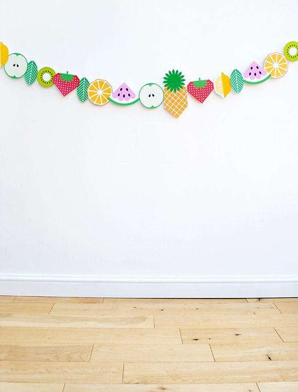 DIY : guirlande tutti frutti