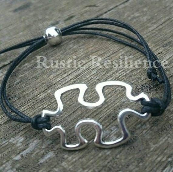 Pulsera ajustable rompecabezas de autismo por RusticResilience